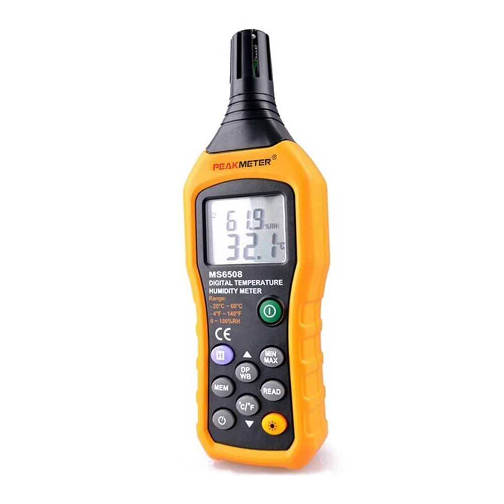 PEAKMETER MS6508 Digital Temperature Humidity Meter Hygrometer Thermometer Electronic New Weather Station Barometer Wireless унитаз компакт vitra form 300 унитаз с бачком с сиденьем 9729b003 7200