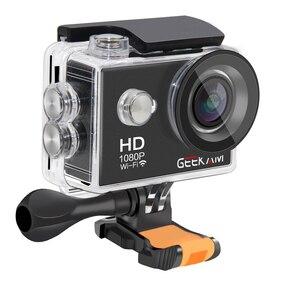"Image 5 - GEEKAM W9 Eylem Kamera Ultra HD 1080 P 12MP WiFi 2.0 ""Sualtı Su Geçirmez Kask Video Kayıt Kameralar spor kamerası"