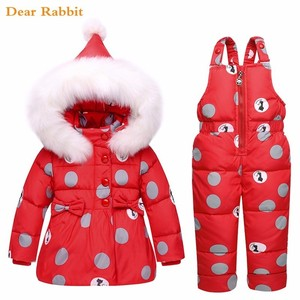 Image 3 - 2020 new Winter children clothing sets girls Warm parka down jacket for baby girl clothes childrens coat snow wear kids suit