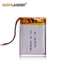 3,7 V литий-полимерный аккумулятор 403040 450mAh для проигрывателя xduoo x2 заменен