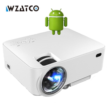 CT100 hd LLEVÓ el Proyector inteligente WiFi Android 4.4 bluetooth Portátil Pocket Mini Proyector Proyector de Cine En Casa HDMI precio más barato