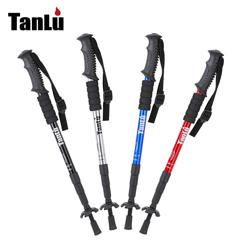 купить Hiking pole hiking walking stick outdoor ultra-light hiking pole retractable недорого