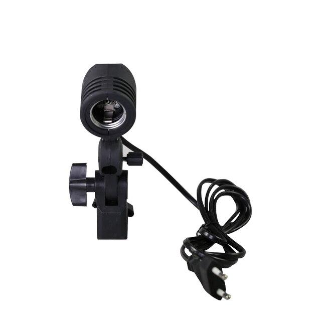 Photographic Lighting E27 Bulb Holder Socket Flash Swivel Bracket Photo Light Lamp Mount US Plug or UK Plug or EU Plug