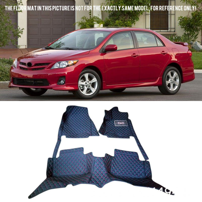 for Toyota Corolla 10th 2008 2009 2010 11 2012 2013 Auto Rugs Floor Mat Pads Car Styling Car Floor Mats Carpet Tray Liners