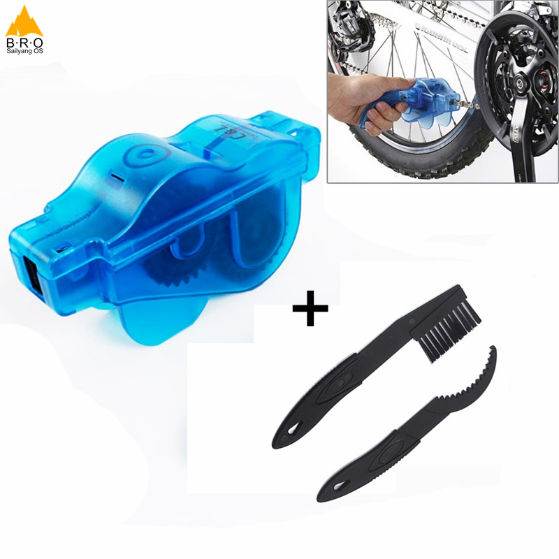 Bicycle Chain Cleaner Cycling Repair Machine Brushes Wash Tool Set MTB Mountain Bike Chain Cleaner Tool Kits