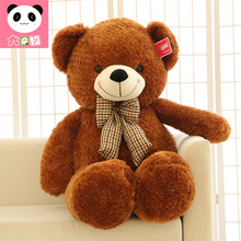 lovely bowtie teddy bear 80 cm plush toy soft pillow ,Christmas gift x250