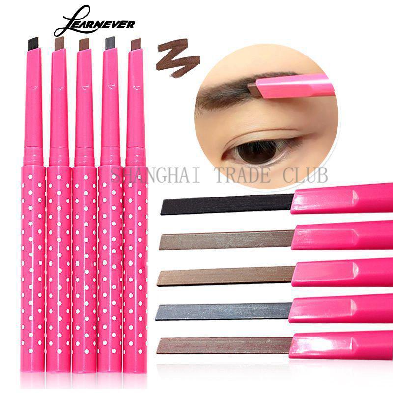 LEARNEVER 1pc New Waterproof Dark Brown Eyebrow Pencil Eye Brow Liner Powder Shapper Makeup Tool