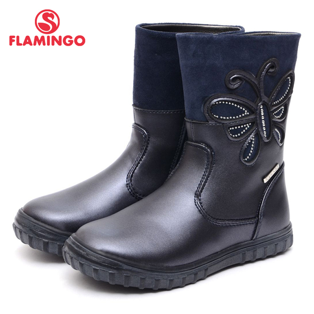 FLAMINGO 2016 new collection autumn/winter fashion kids boots high quality anti-slip kids shoes for girls 52-XC152
