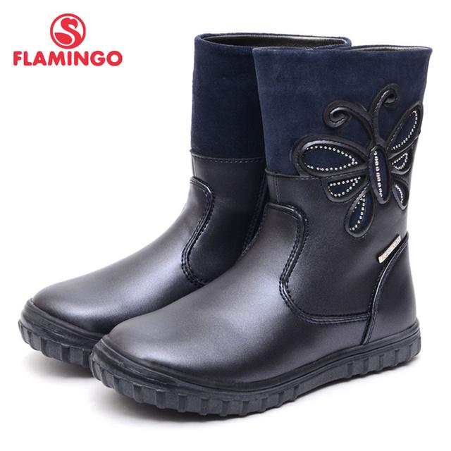 Flamingo 2016 nueva colección otoño/invierno moda niños botas de alta calidad antideslizante zapatos de los niños para las muchachas 52-xc152