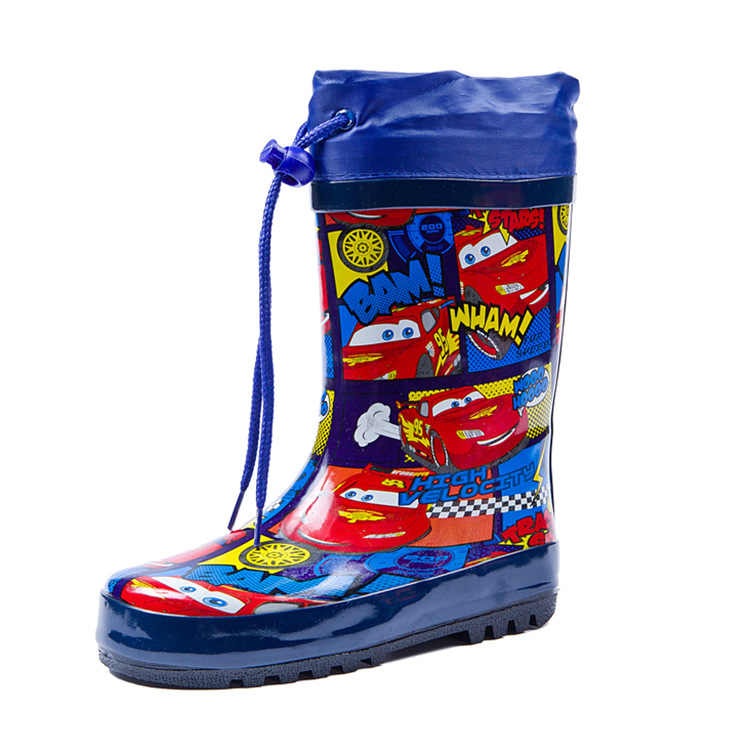 Children's fashion rain boots car boy natural rubber student rain boots slip boots up boots