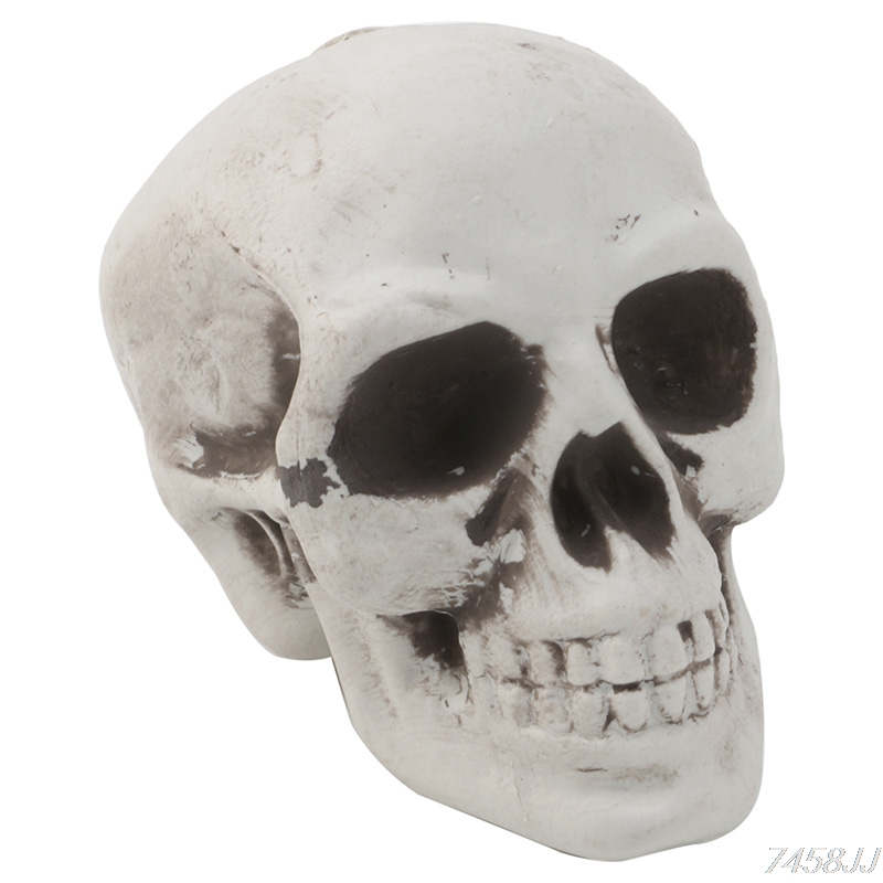 Skull Decor Prop Skeleton Head Plastic Halloween Day Coffee Bars Ornament Drop Ship