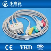 Nihon kohden BR-019 3leads ecg cable lead wires,IEC,clip