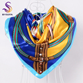 BYSIFA Francia Bufandas de Invierno Nuevo Multi Cabeza Bufandas Para Las Mujeres Ropa Accesorios Mujeres Anillo Bufandas Primavera Otoño Bufandas Del Satén