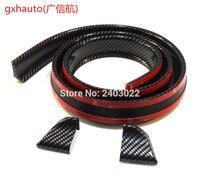 (1) Universal PU Trunk Lip Spoiler or Roof Spoiler Body Kit Trim Sticker, 4.5ft (145cm/1.4m), Carbon Fiber Pattern
