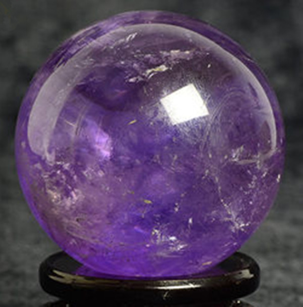 Natural Quartz Amethyst Crystal Ball Sphere Healing Reiki Gemstone