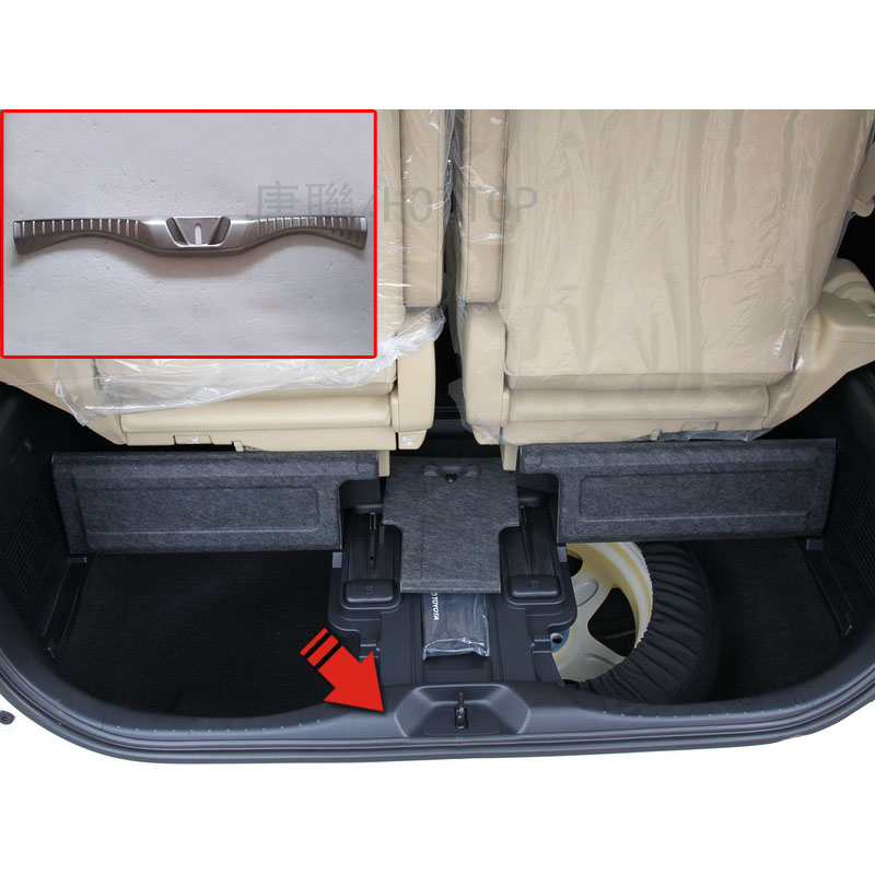 car styling for TOYOTA VELLFIRE/ALPHARD built-in rear fender trim strip for VELLFIRE 30 stainless steel Internal rear guard