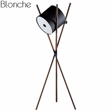 Nordic Tripod Led Floor Lamp Shift Lamp Modern Wood Standing Lamps for Living Room Bedroom Reading Home Light Fixtures Decor(China)