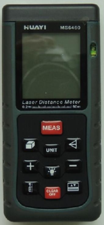 Handheld Laser Distance Meter Range Finder Spirit Level 60 Meters 197 Ft MS6460 Distance Measurer