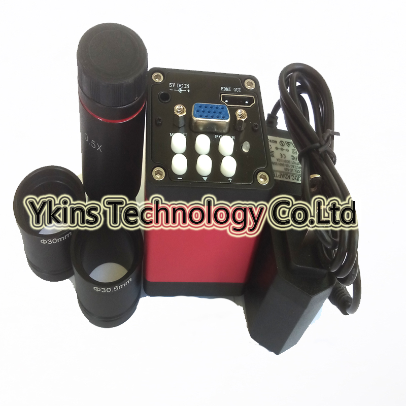 13MP 720P 60/Fps HDMI VGA output Industrial Electronic Digital Video Camera + 0.5X C-Mount with 23.2mm, 30mm ,30.5mm Lens