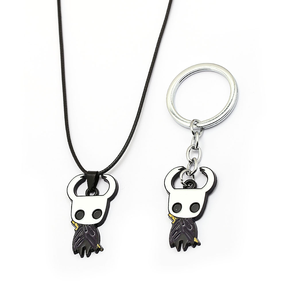 J Store Game Hollow Knight Protagonist Keychain Metal Pendant Keychain Pendant Men  Figure Chaveiro Charms Accessories