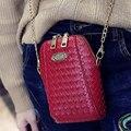 Mobile Phone Bag PU Leather Women Pocket Wallet Pouch Case Weave Messenger Bag Cross-body Girls Small Shoulder Bags petite sac