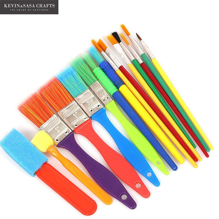 15Pcs/Set Paint Brushes Set Stationery Gift Quality Nylon Brush Pens Set School Art Set For Kids Art Supplies For Artist