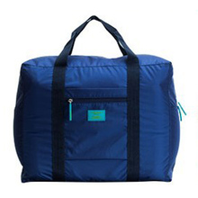 Dark Blue Nylon Foldable Travel Bags Handbags Waterproof Bags for Business and Travel Large Capacity Shoulder Bags