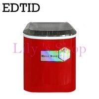 Коммерческих автоматический льдогенератор бытовой электрический пуля круглый делать льда 15 кг/24 h семейного небольшой бар кофе teamilk магази