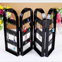 Women Wrought 240 Hole Earrings Jewelry Display Wall Mounted Frame Rack Metal Holder Iron Convenient Jewelry