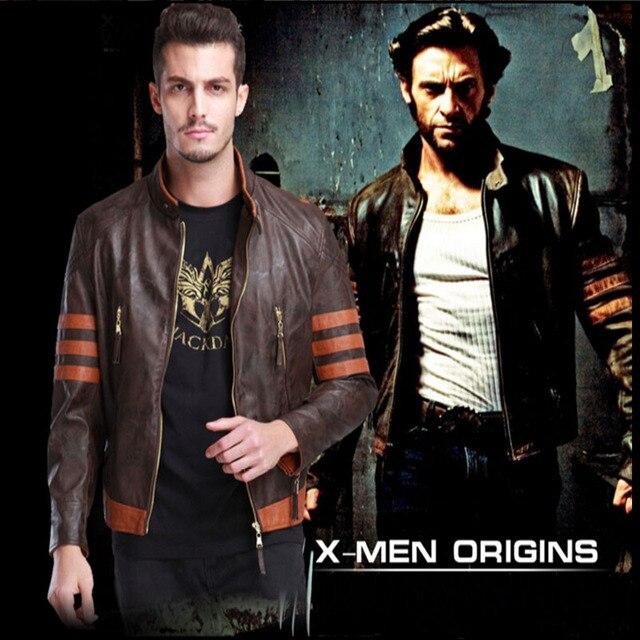 Unique Design X-MAN Fashion PU Motorcycle Leather Jacket Star Movie Popular Zipper Jackets
