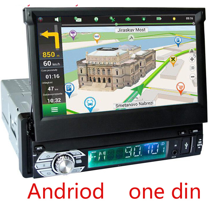 Single 1 Din Universal 7inch Car DVD Player Capacitive GPS Navigation Car Audio Multimedia PC WIFI