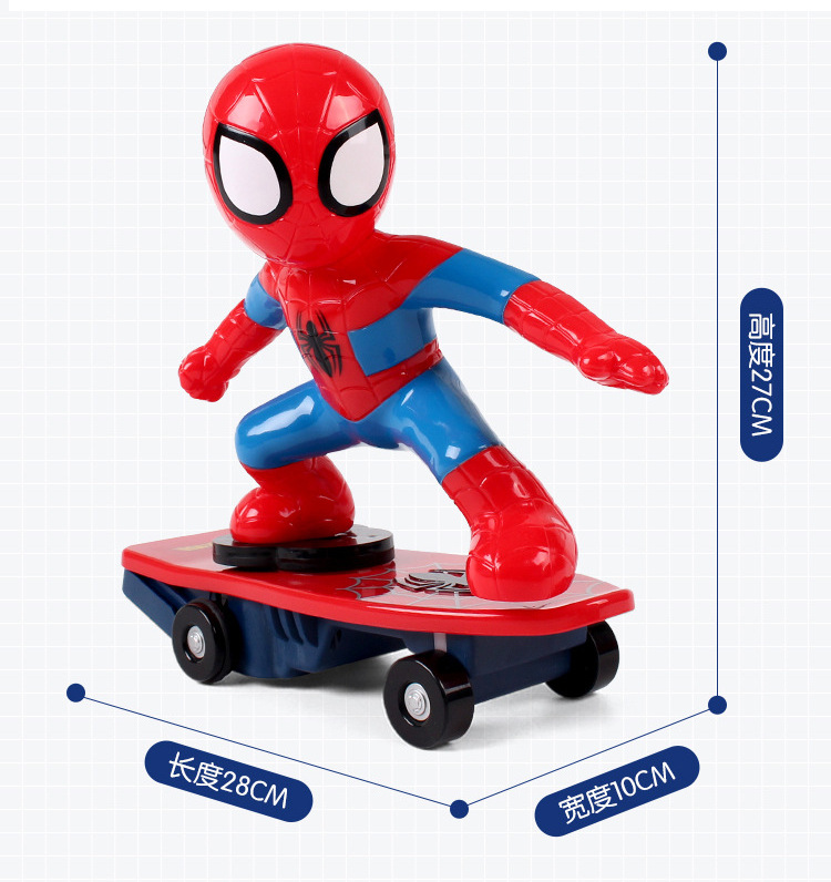 Aliexpress Buy Mini Rc Simulators Spiderman Skateboard Toys