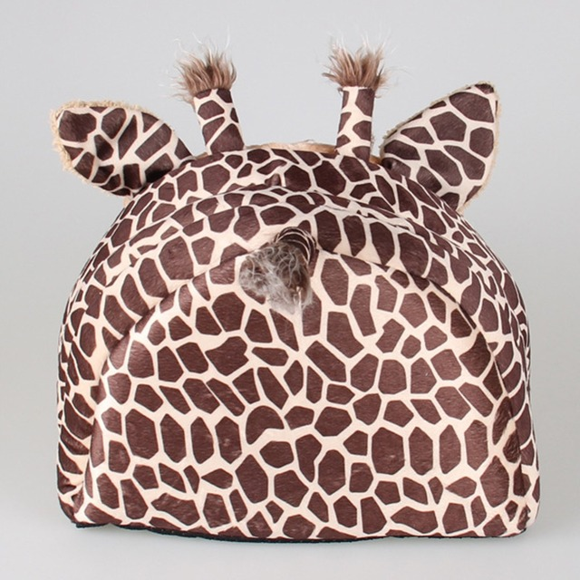 Soft Warm Dog House Leopard Pet Sleeping Bag House for Small Medium Dog Cats Pet Supplies Cat Products S/M/L 5