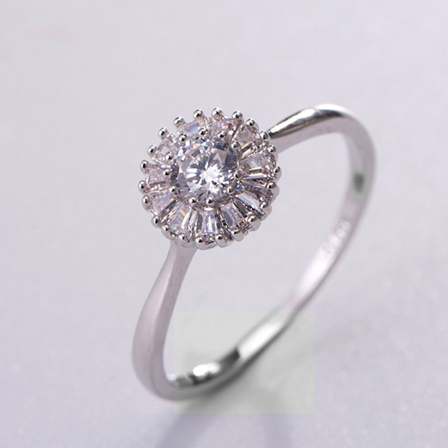Simple Engagement Rings For Lady Clic Silver Color Wedding Ring Female Anel Vintage Women
