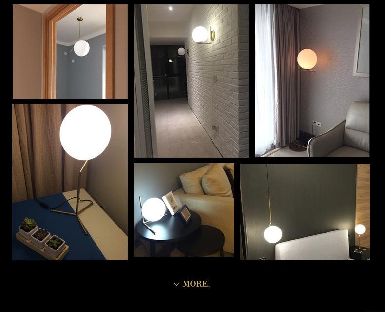 Modern LED Table Lamp Desk Lamp Light Shade Glass Ball Table Lamp Desk Light for Bedroom Living Room Floor Conner Gold Designs (27)