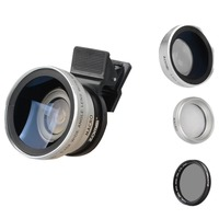 Zomei 3 in 1 Cell Phone Camera Lens Kit 140 Degree Wide Angle Lens + 10X Macro Lens + CPL Polarizing Filter for iPhone Samsung