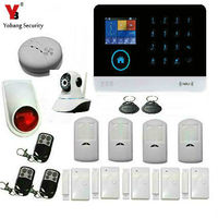 YobangSecurity Wireless Wifi GSM GPRS Home Office Security Burglar Intruder Alarm Video IP Camera Smoke Fire