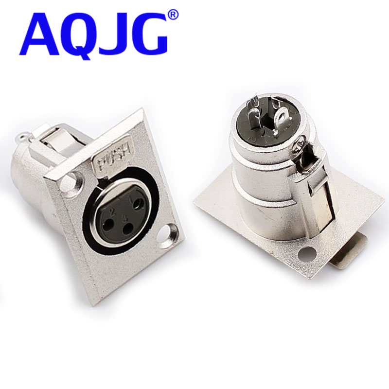 10pcs XH-2 metal 3 Pin XLR Female Jack Socket Panel Mount Connector Nickel Converter Adapter AQJG key type drill chuck 3 to 16mm with no 3 morse taper mt3 shank high precision new