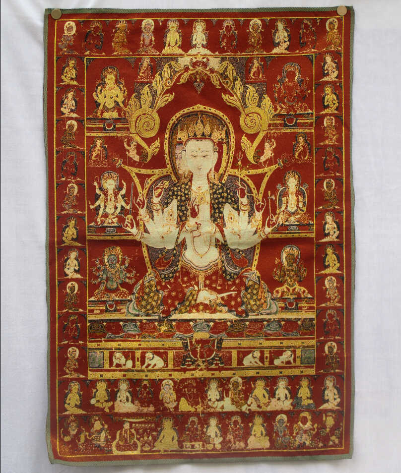 Collectible Traditional Tibetan Buddhism in Nepal Thangka of Buddha paintings ,Big size Buddhism silk brocade painting  p002530