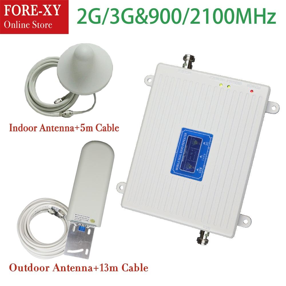 2g 3g usage domestique Double bande répéteur 900 2100 mhz cellulaire signal booster GSM wcdma/umts réseau booster amplificateur de signal répéteur