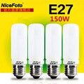 1 unids Nicefoto 150 W Flash de Estudio de iluminación bombilla E27 Lámpara de Modelado de montaje 220 v para luz de Flash softbox fotográfico