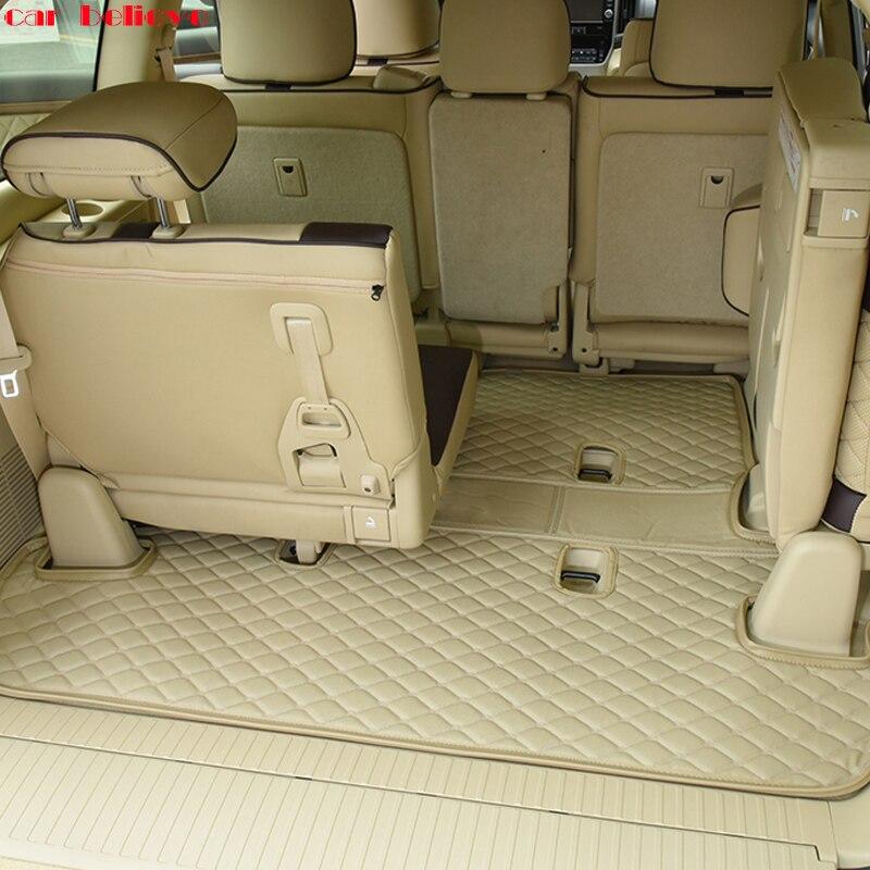 Автомобиль считает заказ багажник автомобиля коврик для Toyota LAND CRUISER Prado 120 150 200 грузового лайнера салонные аксессуары ковер Тюнинг автомобил
