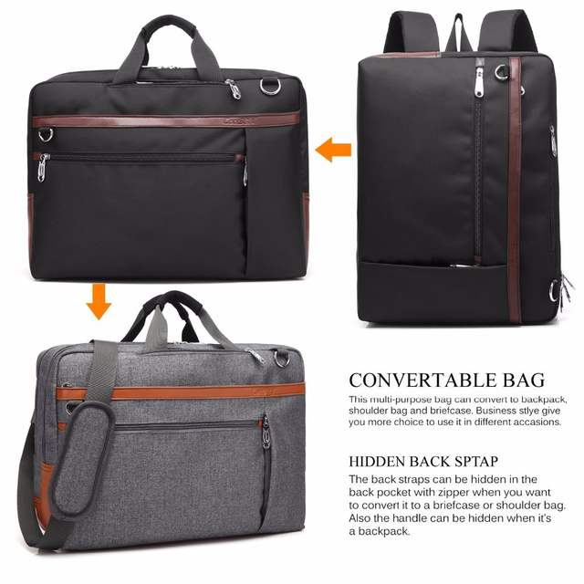 1e0abb63f374 CoolBELL Convertible Backpack Shoulder bag Messenger Bag Laptop ...