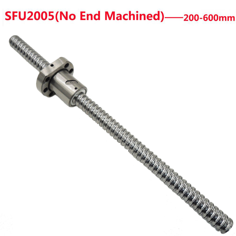 1SET No End Machined SFU2005 200/250/300/350/400/450/500/550/600mm Ball Screw with 2005 Ball Nut OD 36mm CNC1SET No End Machined SFU2005 200/250/300/350/400/450/500/550/600mm Ball Screw with 2005 Ball Nut OD 36mm CNC