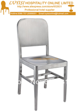 Stainless steel chair fully assembled brushed finish quick shipment