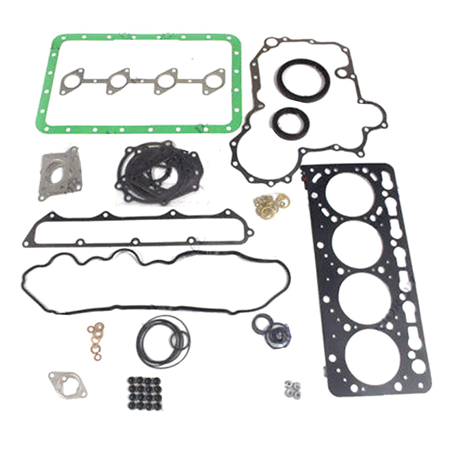 US $117 42 5% OFF|V3800 V3800T Engine Overhaul Gasket Kit for Kubota Bobcat  Excavator 1G574 99355 Excavator Aftermarket Parts-in Pistons, Rings, Rods