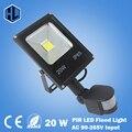 Отличное качество! 85-265 В 10 Вт 20 Вт 30 Вт 50 Вт светодиодный прожектор светодиодная лампа черный корпус ПИР Motion датчик Индукции Датчик Прожектор