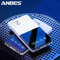 Banco do Poder 20000mAh Ultra-fino banco de Potência Portátil Carregador com Display Digital LED de Bateria Externa com lanterna Para telefone