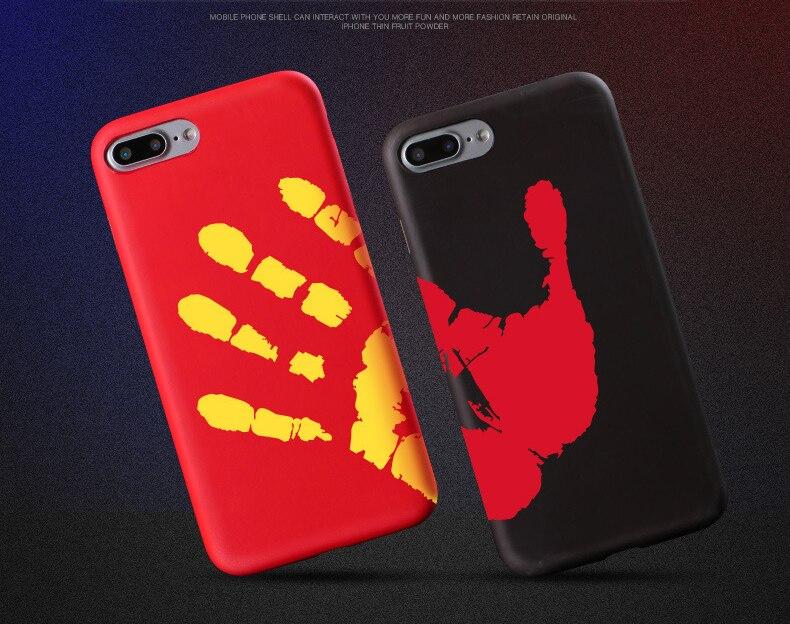 AIBOR Hot Discoloration Temperature Sensing Change Color Phone Case For iPhone X 8 7 6 6s Plus 5s SE Matte Thermal Sensor Cases