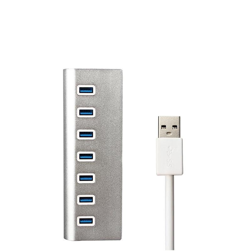 USB 3.0 Hub Aluminium 7 Port High Speed 5 Gbps USB HUB Splitter Sieben in einem Naben Für Apple PC Computer Laptop Tablet